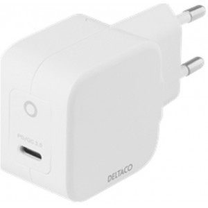 Deltaco Wall Charger Usb-c, Gan Tech., 1x Usb-c Pd, 30w - Oplader