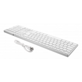 DELTACO fullsize bluetooth keyboard, aluminium, rechargeable battery,