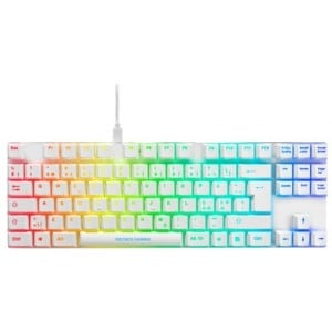 Deltaco-g Whiteline Wk90r Tkl Mechanical Keyboard, - Keyboard