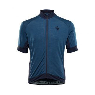 Sweet Protection Crossfire Merino Jersey - Cykeltrøje - Blå - Str. XL